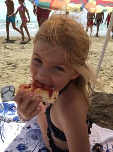 Strandsnack: Pizzafocaccia.