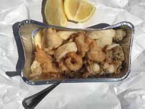 Frutti di mare frittiert.