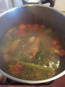 Die erste Brodo. Mit Rindfleisch und viel Gemüse.