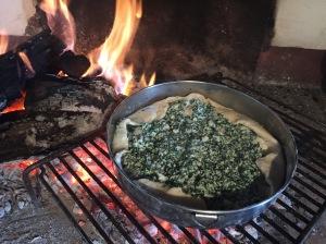 Resteverwertung: Ricotta-Spinat-Torte.